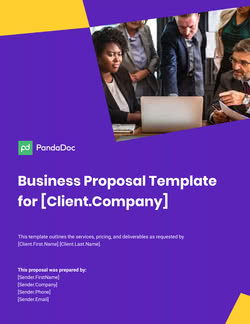 Business Proposal Template for UK Companies