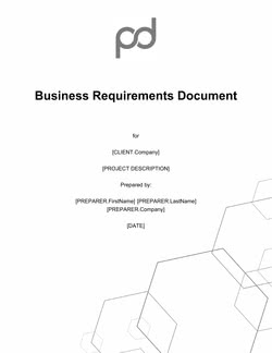 Business Requirements Document Template (BRD)