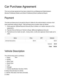 Simple Car Bill Of Sale Template from www.pandadoc.com