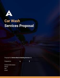 Car Wash Proposal Template