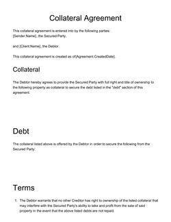 Collateral Agreement Template