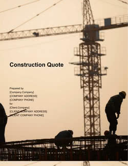 Construction Quote Template