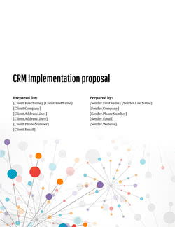CRM Implementation Proposal Template