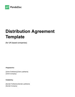 Distribution Agreement Template UK