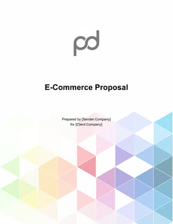 E-Commerce Proposal Template