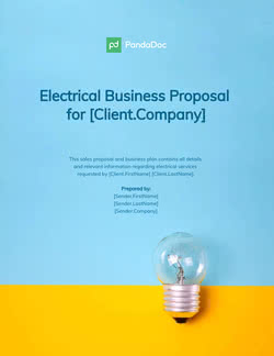 Electrical Business Proposal Template