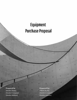 Equipment Purchase Proposal Template