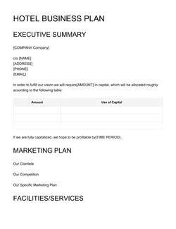 Business Plan Templates 7 Free Samples 2020
