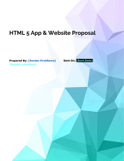 HTML 5 App & Website Proposal