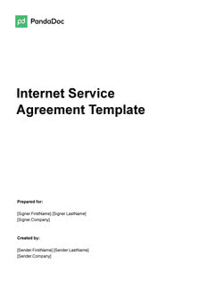 Internet Service Agreement Template