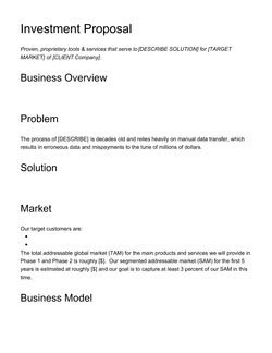 Logistics Services Proposal Template - Get Free Sample