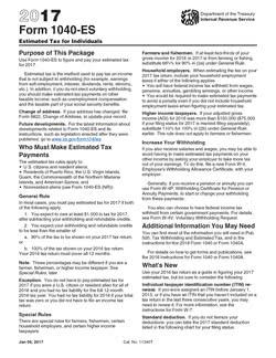 IRS Form 1040-ES