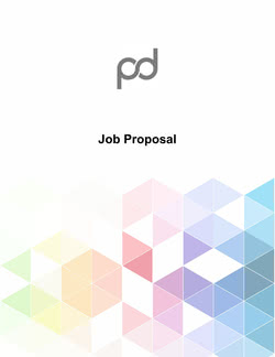 Job Proposal Template