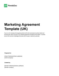 Marketing Agreement Template UK