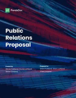 PR (Public Relations) Proposal Template