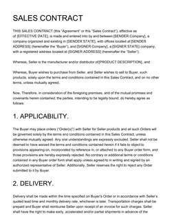 Sales Contract Template