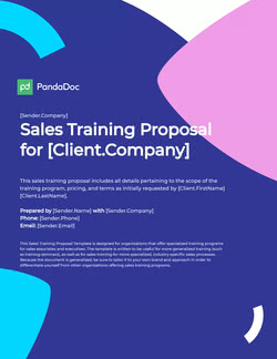 Sales Training Proposal Template