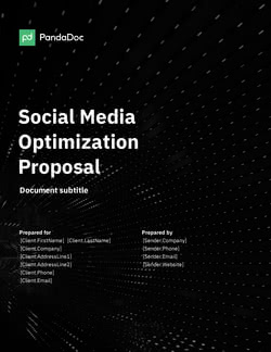 Social Media Optimization Proposal Template