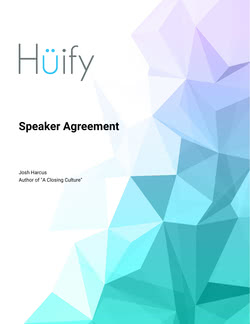 Speaker Agreement Template – BaseCRM Version
