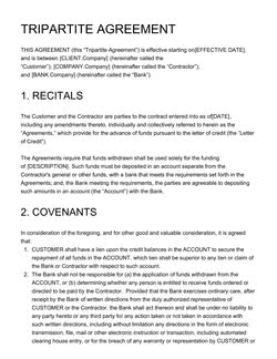 Tripartite Agreement Template