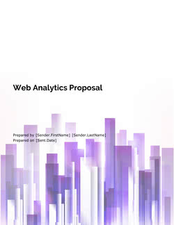 Website Analytics Proposal Template