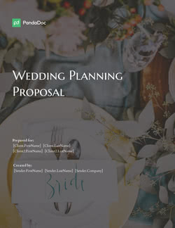 Wedding Planning Proposal Template