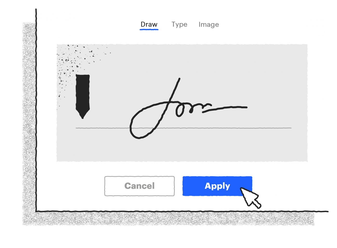 How to sign an electronic form with an electronic signature