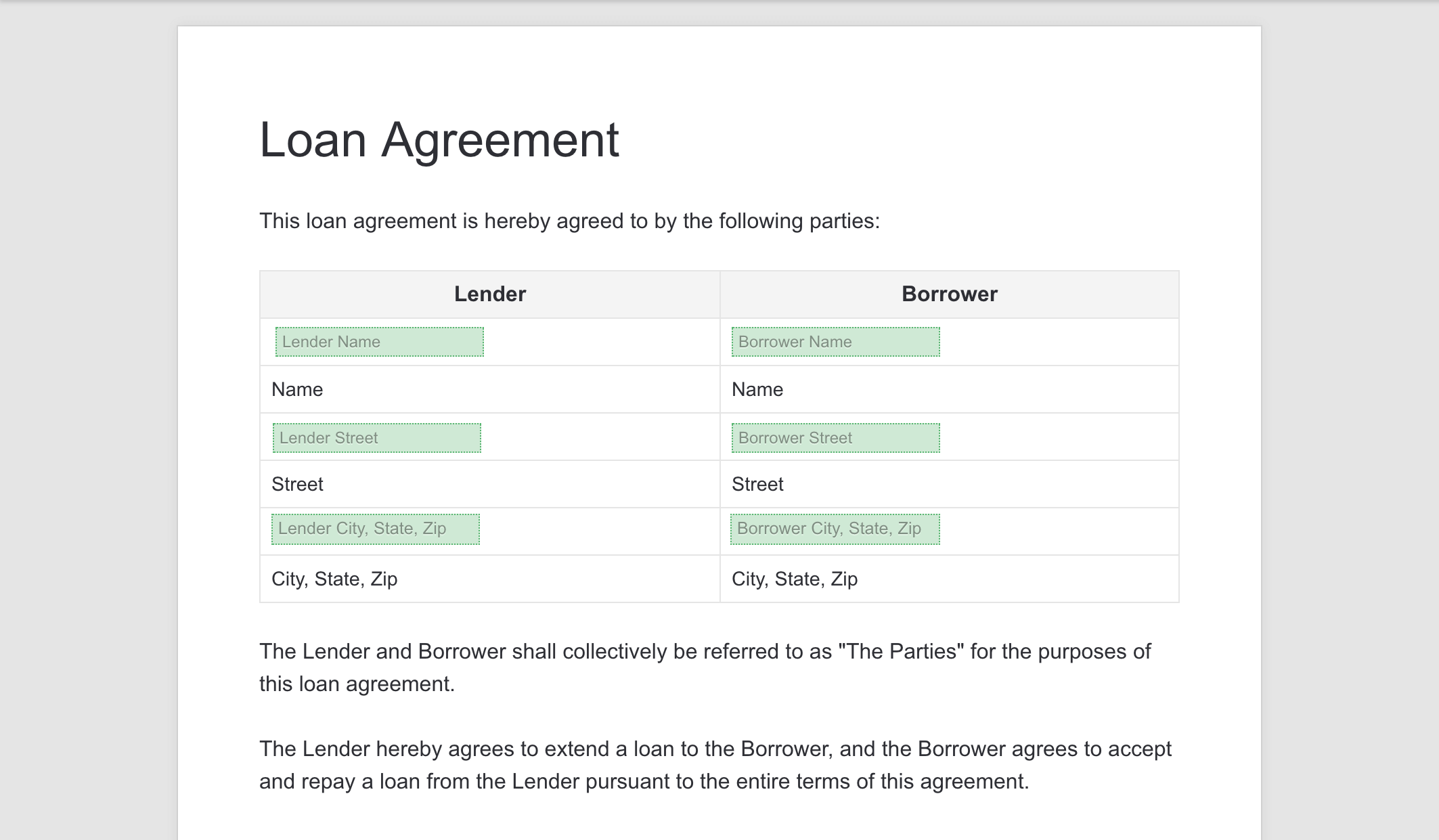 How To Fill Out And Sign A Loan Agreement Online Via Pandadoc
