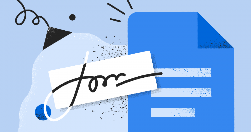 add electronic signatures in Google Docs