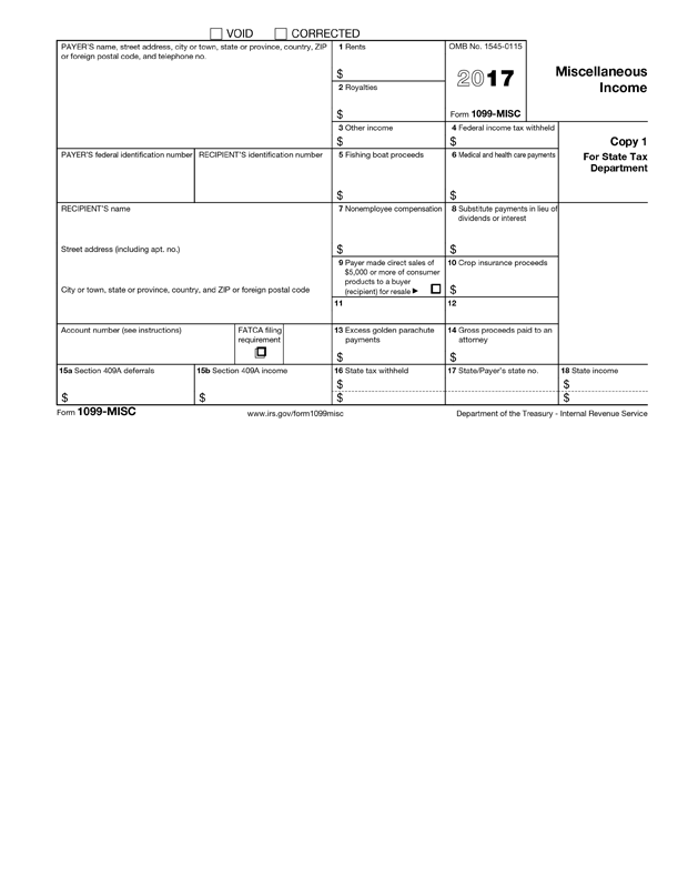 1099 Misc Form Template Create And Fill Online