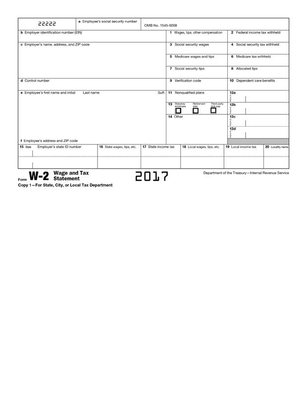W2 Form Template - Create and Fill Online