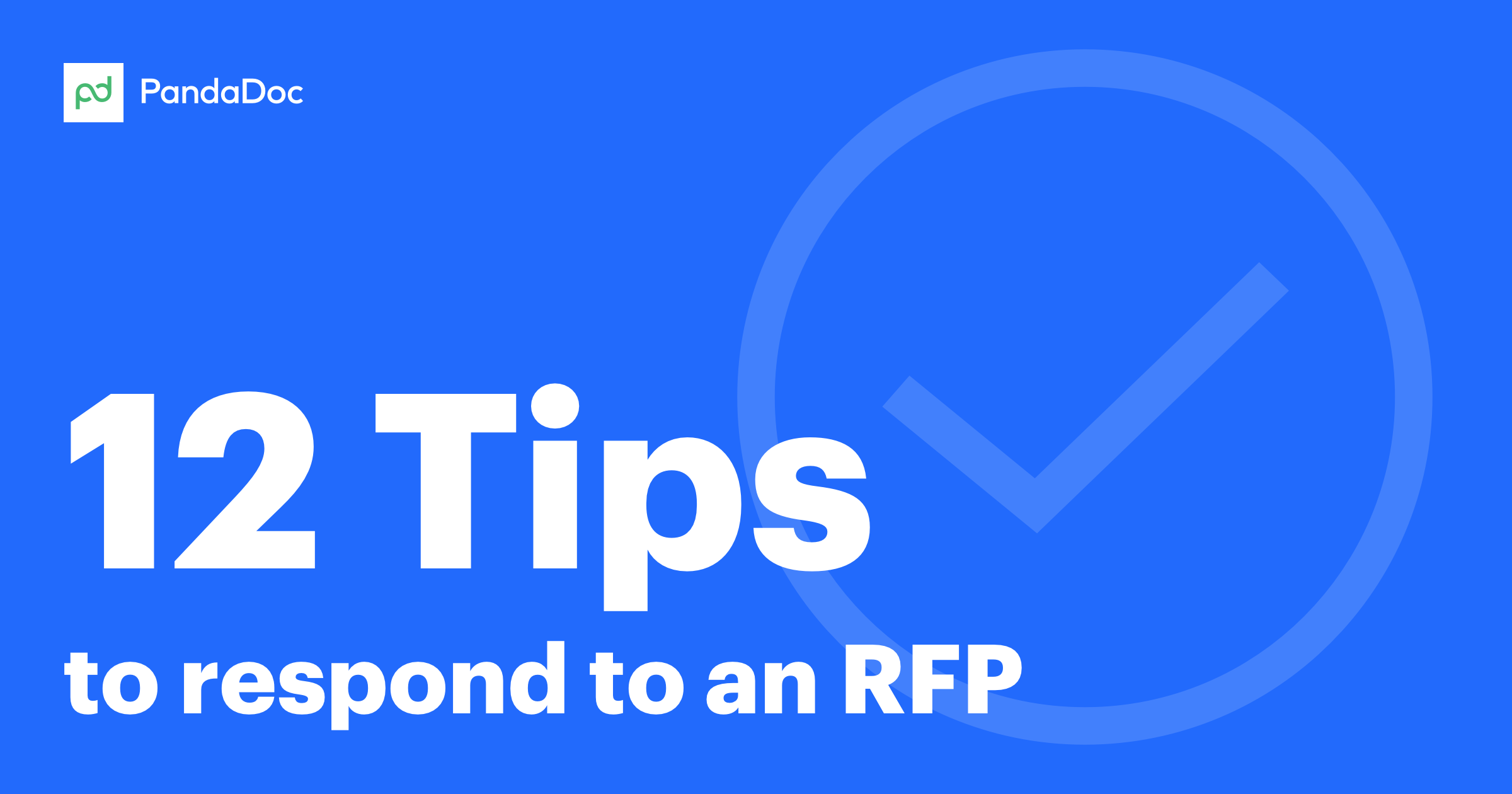 How to respond to an RFP with no fear