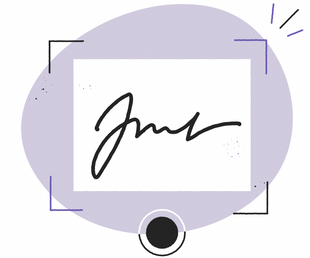 take a photo or scan the image of your signature