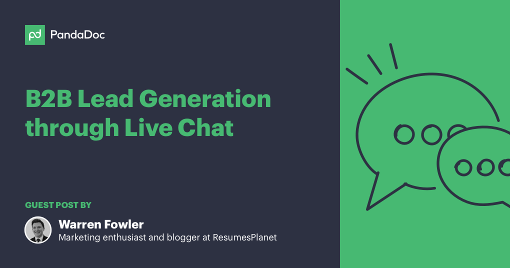 Fresh tips to handle B2B lead generation using live chat