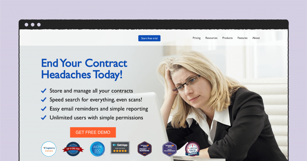 ContractSafe main page