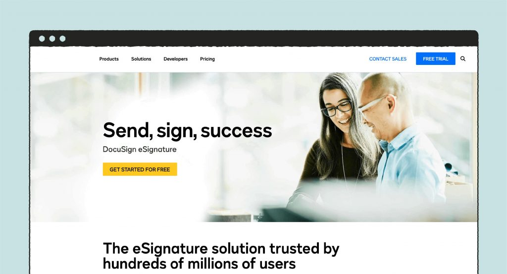docusign main page