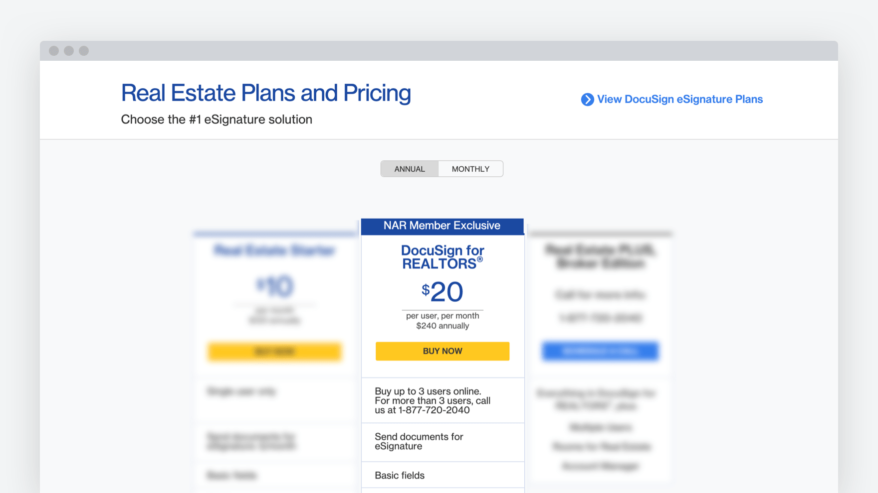 DocuSign_for_REALTORS®_pricing_plan