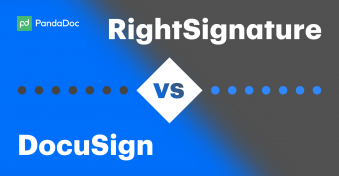 Compare eSign alternatives DocuSign vs RightSignature