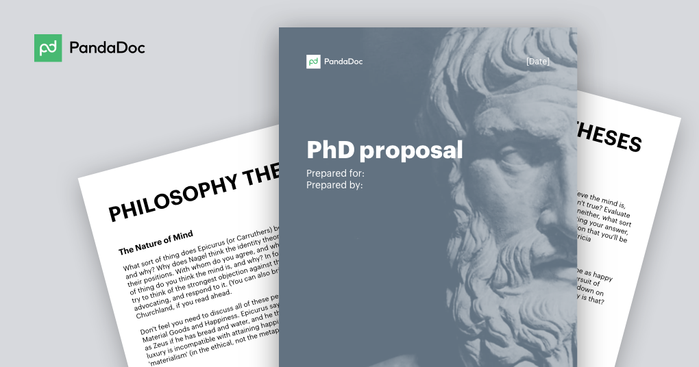 How to write a PhD proposal