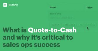 What is quote-to-cash and why is it critical to sales ops success?