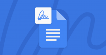 You can now use an electronic signature in a Google Doc
