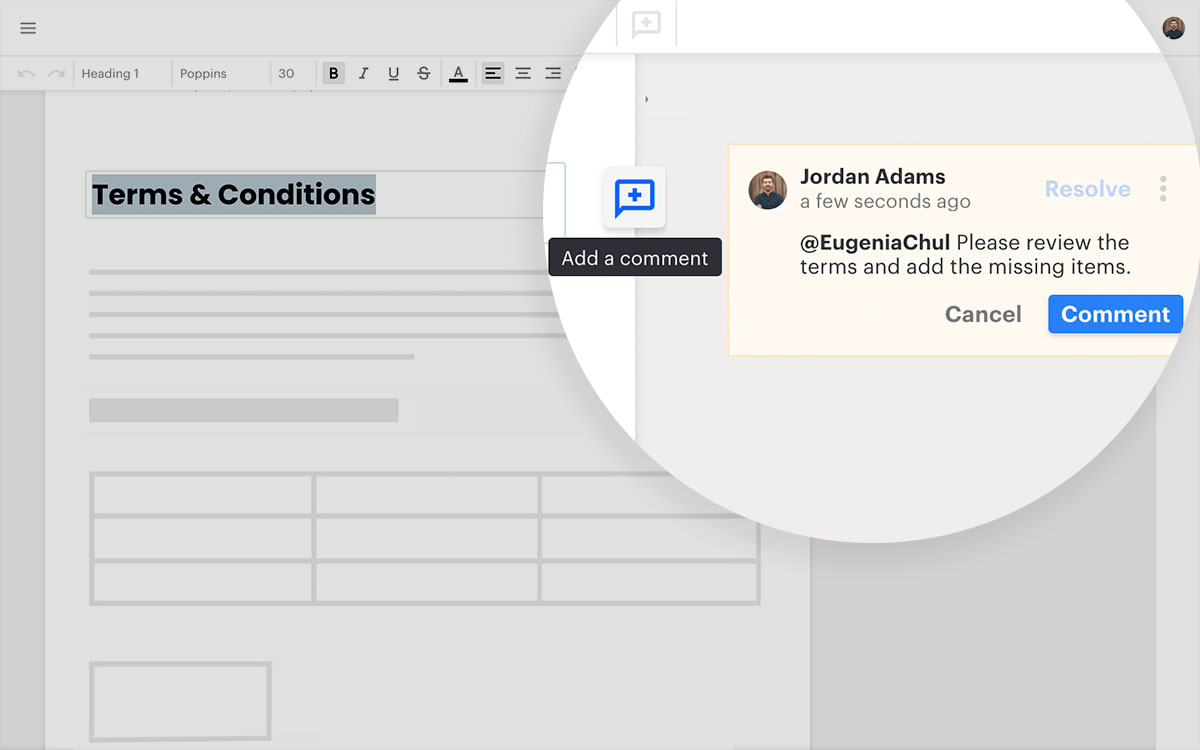 Inline comments are here to make collaboration easy