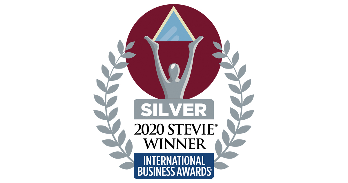This image has an empty alt attribute; its file name is stevie-award.jpg