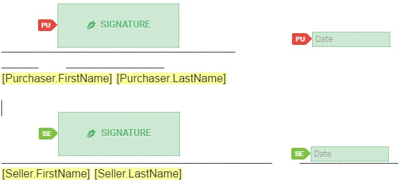 Vehicle Bill Of Sale Signature